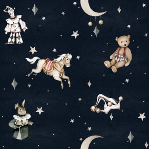 Tapeta French characters in the night sky / Toys from the attic Dekornik