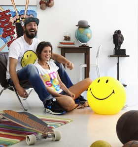 Lampa LED Smiley 45cm Mr Maria