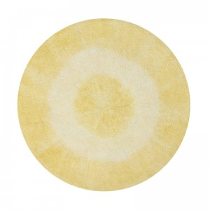 Dywan do prania w pralce 150 cm Tie-Dye Yellow Lorena Canals